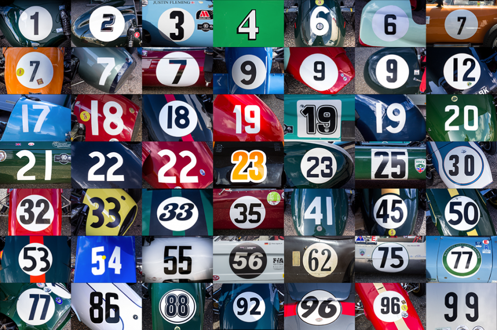 Race Car Numbers ⋆ 125scale