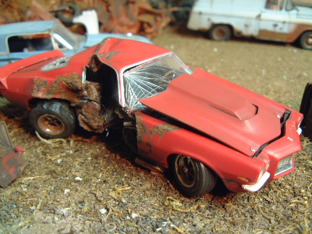T Boned 70 Camaro Built Wreck Chevy Wrecks ⋆ 125scale